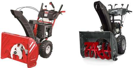 Troy-Bilt AND Briggs and Stratton snow blowers