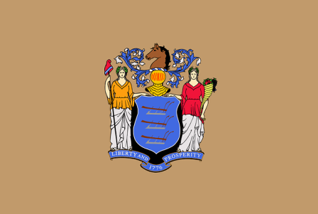 New Jersey state flag.