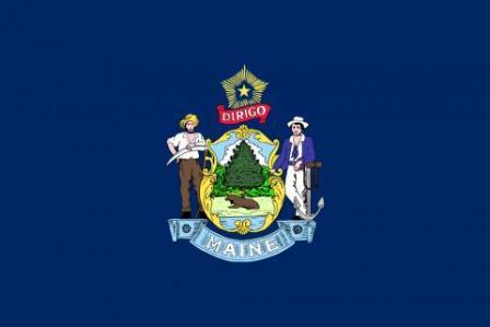Maine state flag.