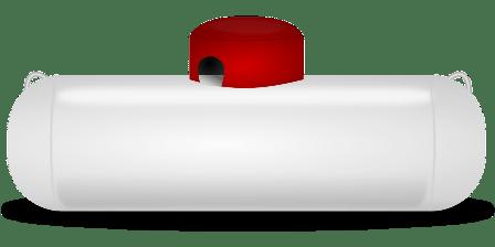 Liquid propane tank to power the generator.