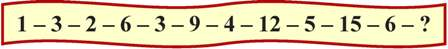Number series brain teaser.