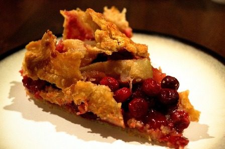 Grandma's cranberry-rhubarb pie.