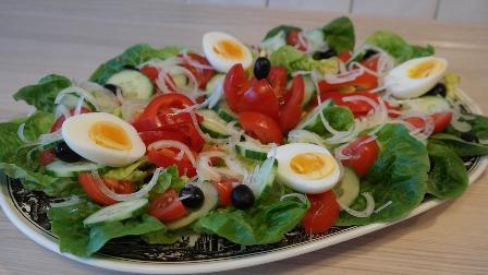Collard greens in a salad.