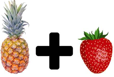 Does pineapple plus strawberries equal pineberries?