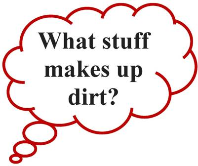 What stuff makes up dirt?