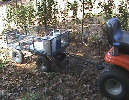 Jim's trusty Gorilla cart trailer.