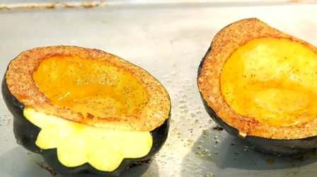 My acorn squash tastes like sweet potato souffle.