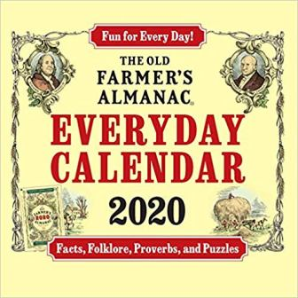 Farmer's Almanac Box Calendar for 2020