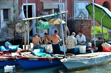 Chioggia, Italy is a short boat ride from Venice.