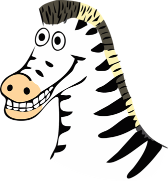 A yellow(ish) zebra