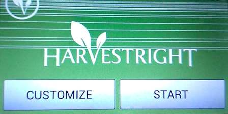 Harvest Right Home Freeze Dryer - main screen