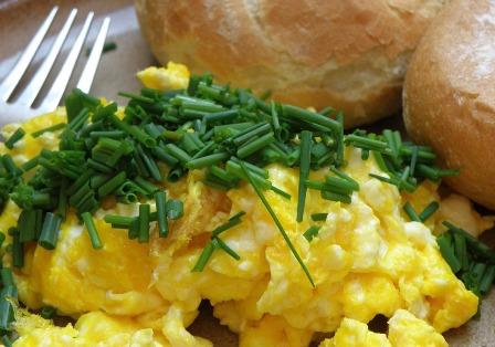 Jim, the Lifelong Gardener loves scrambled eggs!
