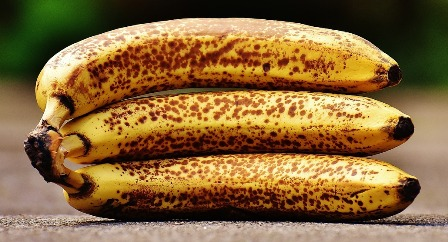 Over ripened bananas