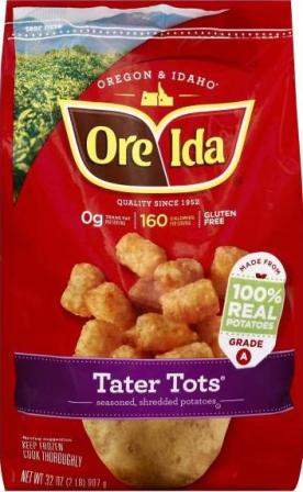 Freeze drying tater tots - Ore-Ida