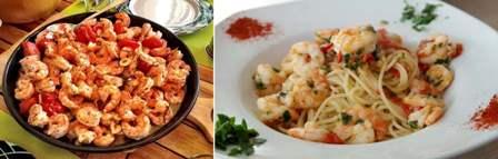 1 - Shrimp Stir Fry 2 - Shrimp Spaghetti