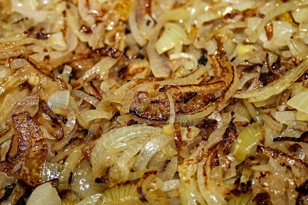 Sautéed onions ready to be freeze dried.